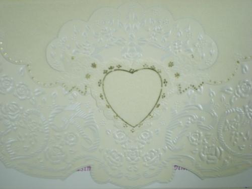 Wedding invitation front