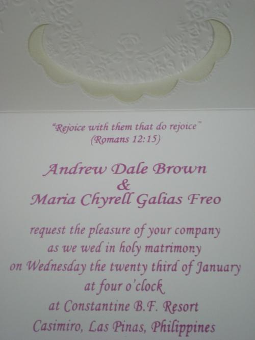 Invitation inside