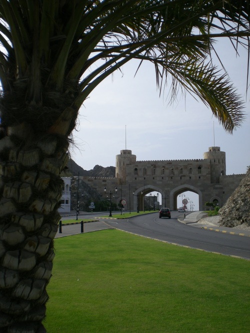 Muscat Gate and palm tree