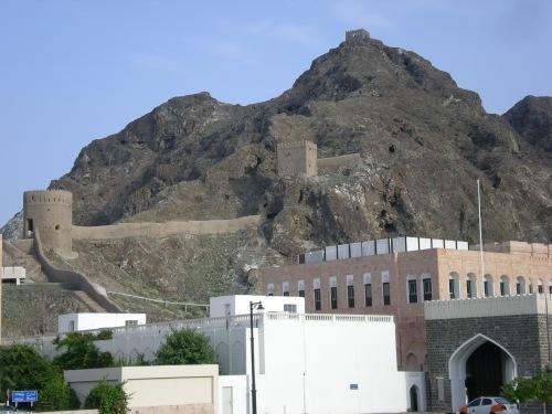 mountains near palace