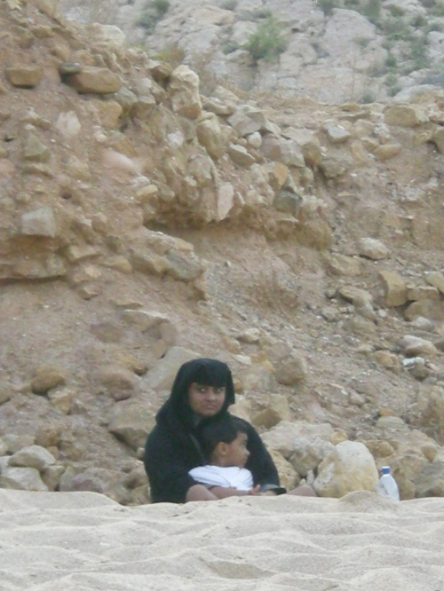 Omani mother and child