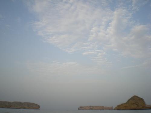 sea sky and clouds