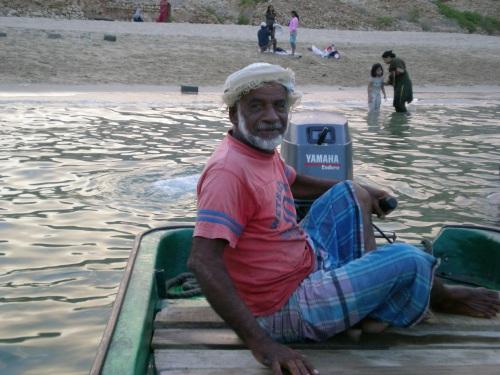 Abdullah on boat