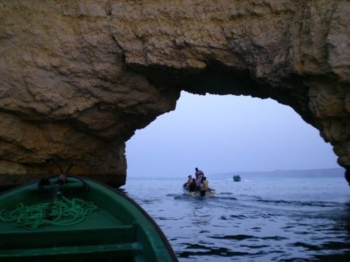 Sea Arch and boat
