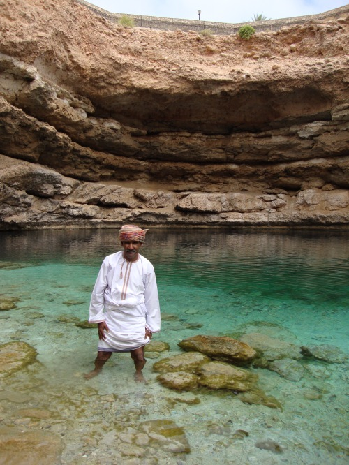 omani gentleman in sinkhole