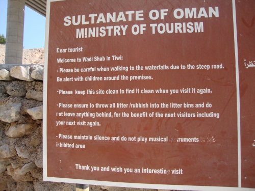 wadi shab sign