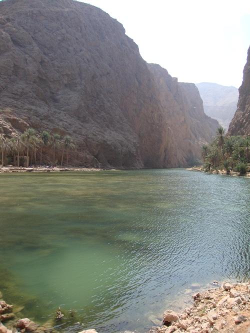 waters of wadi shab
