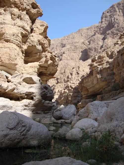 wadi shab scenery