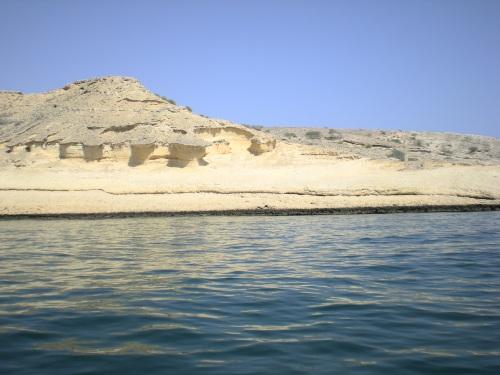 cliffs along muscat's sea