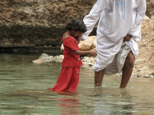 omani girl in sinkhole
