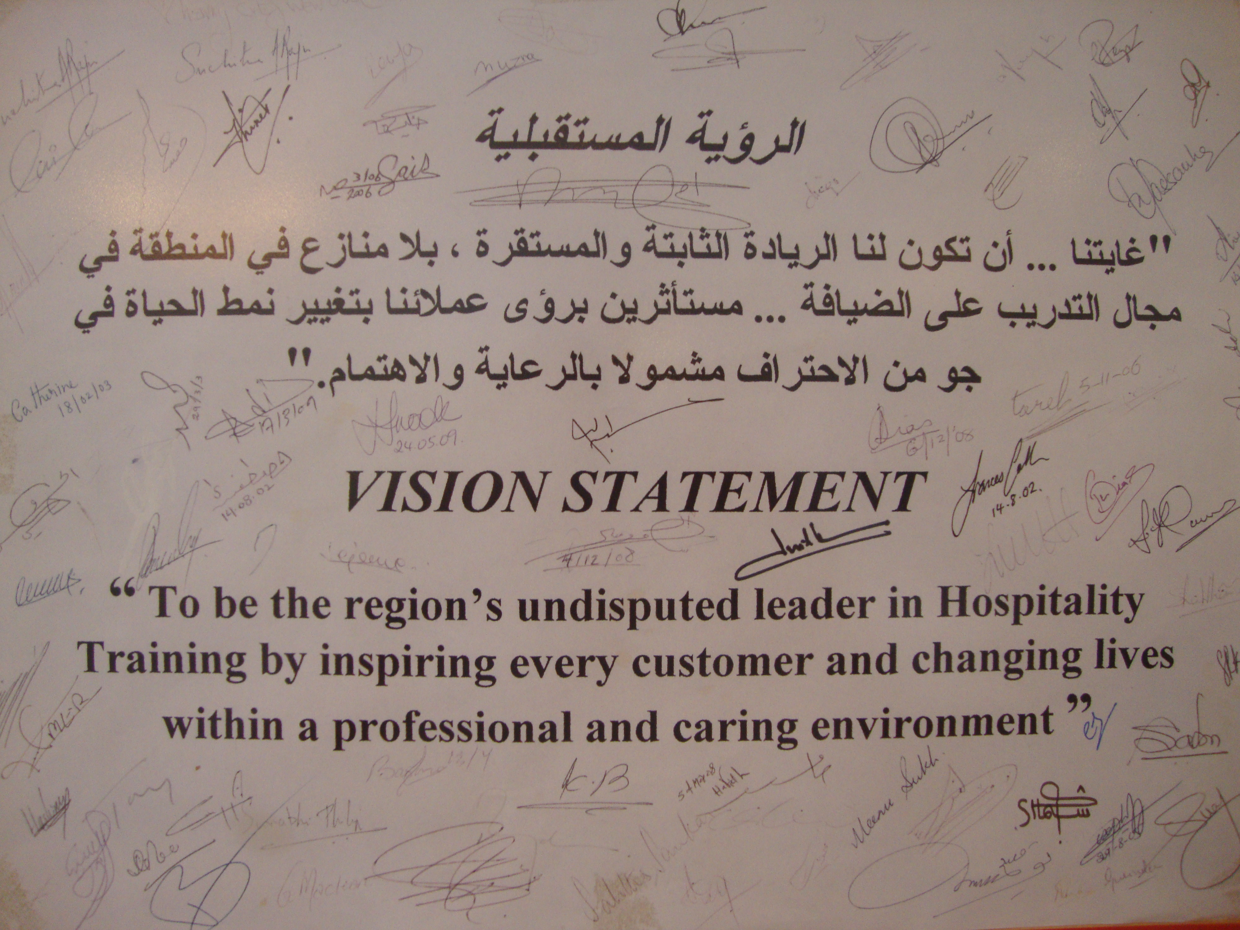 vision statement – Restaurant Statement