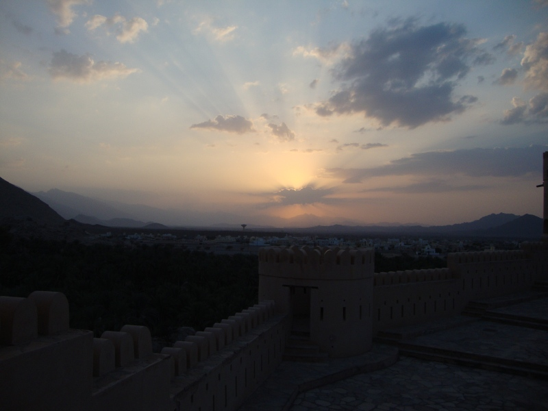 sunset over Nakhal