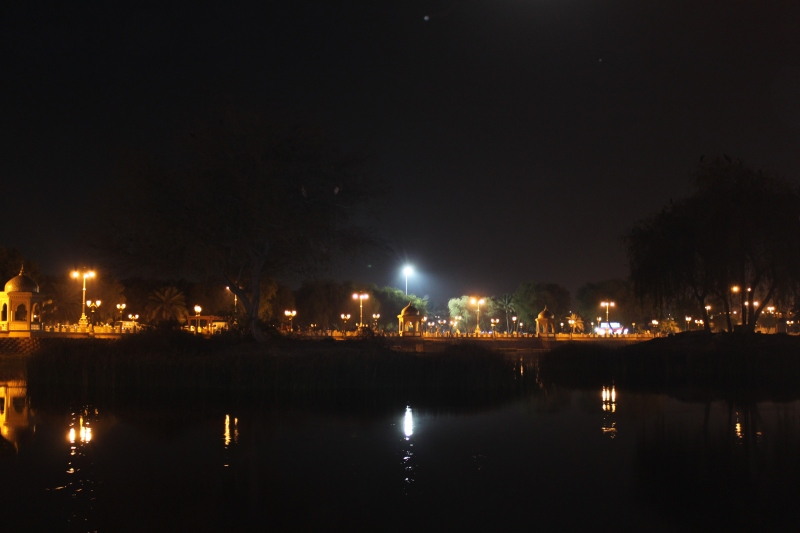 qurum park at night