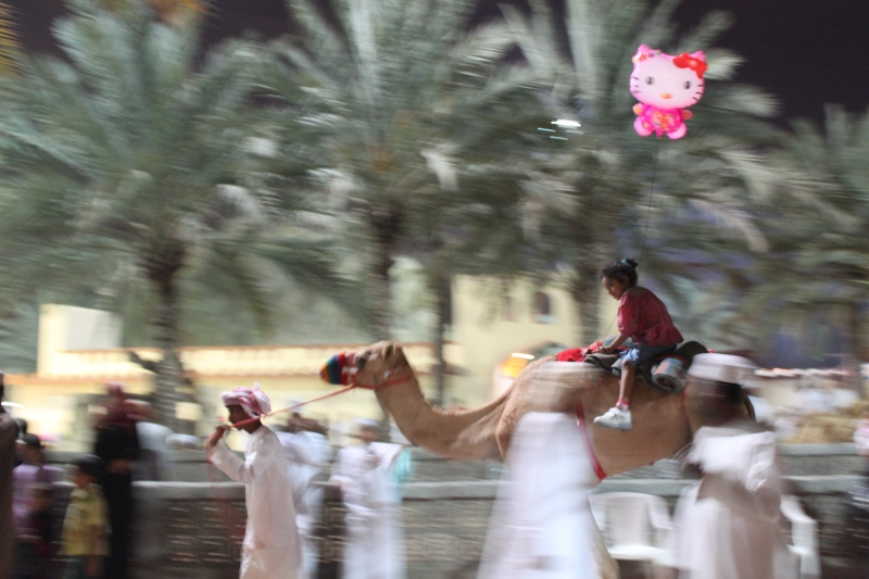 hello kitty on camel ride
