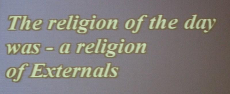 religion of externals