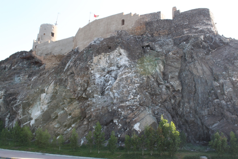 looking up at fort