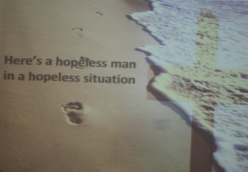 hopeless man in a hopeless situation