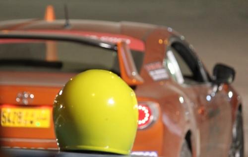 helmet and car