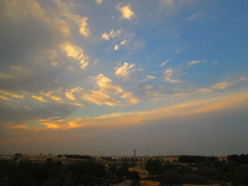 sky over Muscat airport
