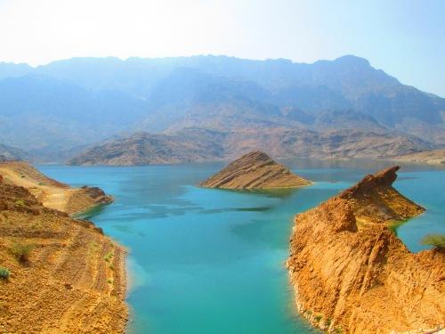 lake in vivid color