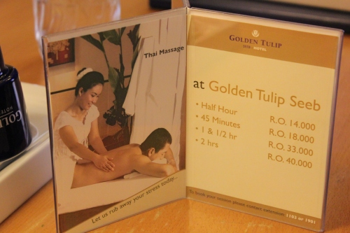 thai massage at Golden Tulip