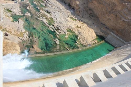 top of dam 13