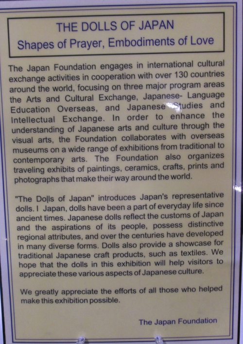 description of exhibition