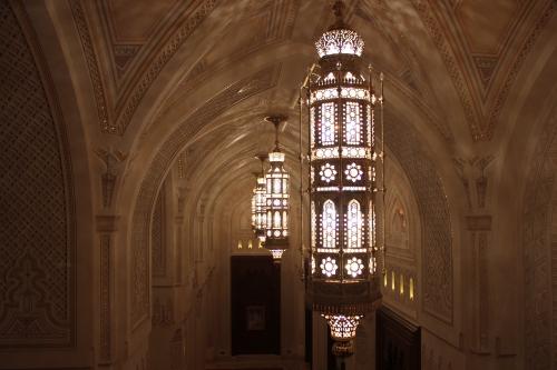 chanceliers in opera house