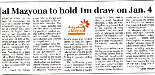 jackpot article in oman tribune