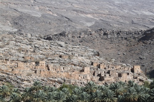 abandoned village at Wadi Ghul
