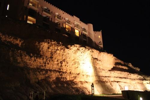 al Husn hotel at night