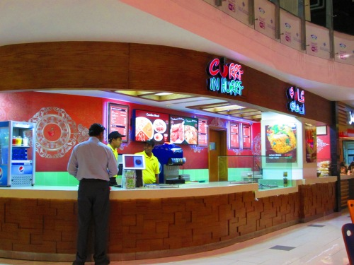 counter at food court