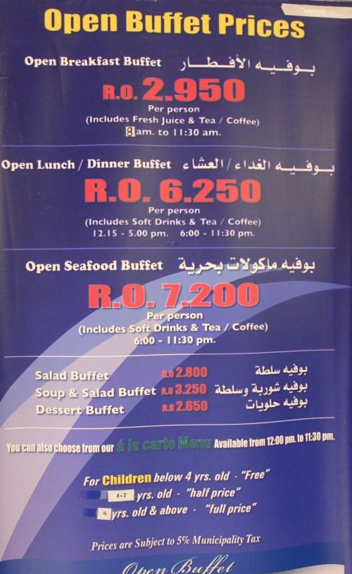 buffet options