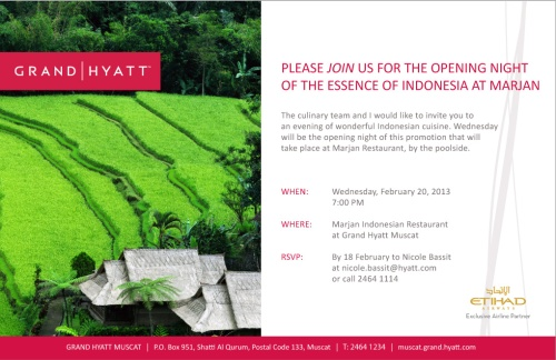 invite from Hyatt