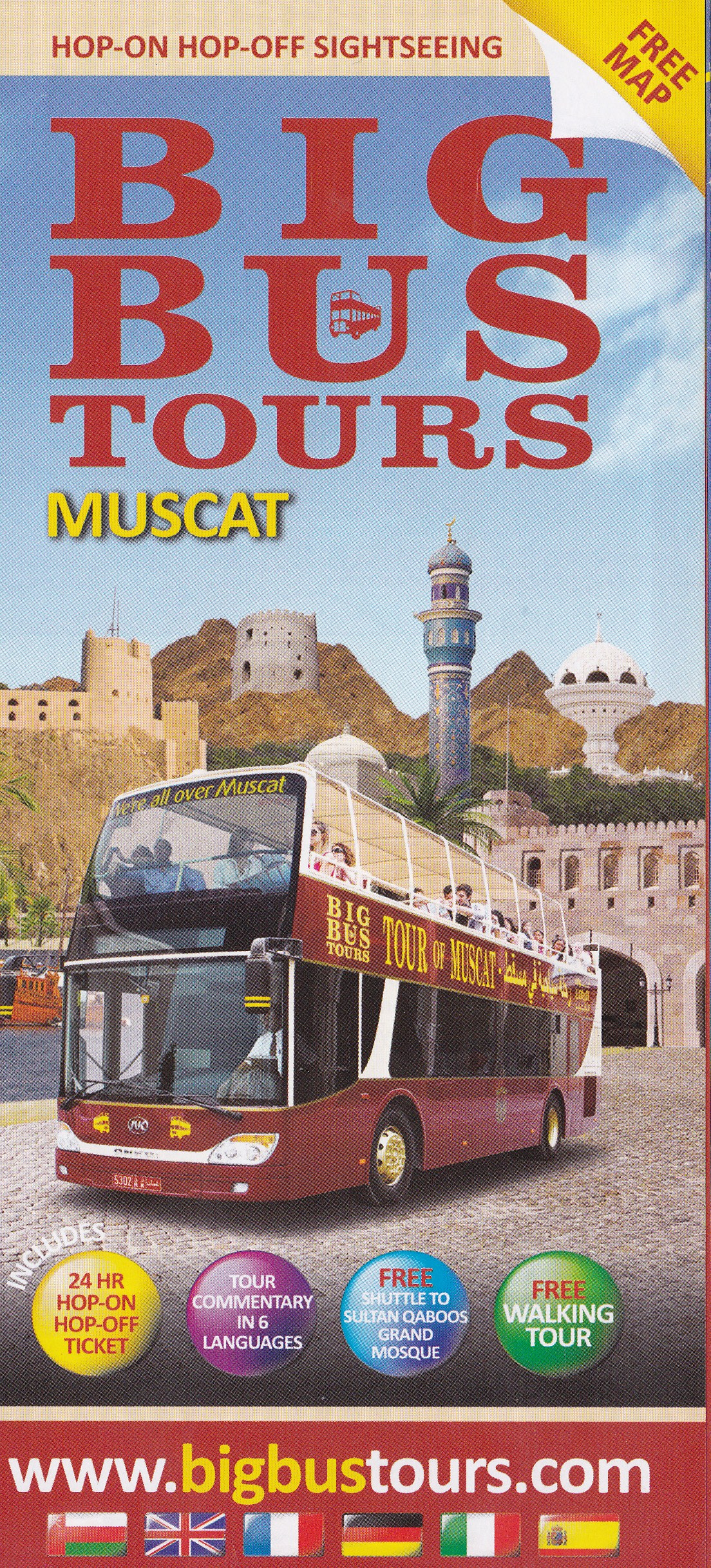 BIG BUS TOURS Muscat: Stops 1-5 (Part 1 of 2) | Andy in Oman