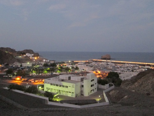 night scenic photo of marina