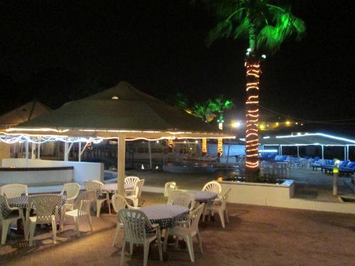 marina poolside at night