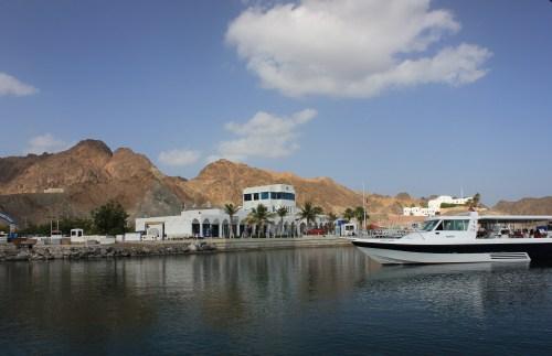 sky and marina from boat