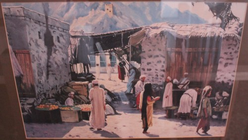 painting of muttrah past