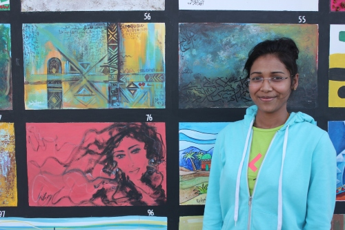 Roshani and her mural