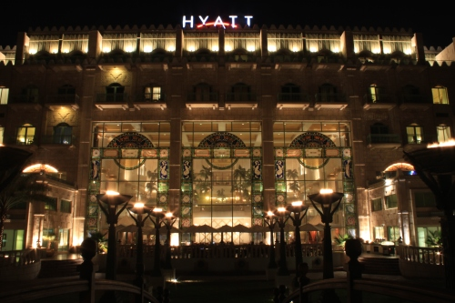 looking back at the hyatt