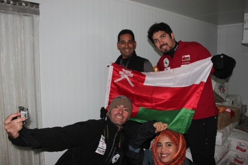 gang with omani flag