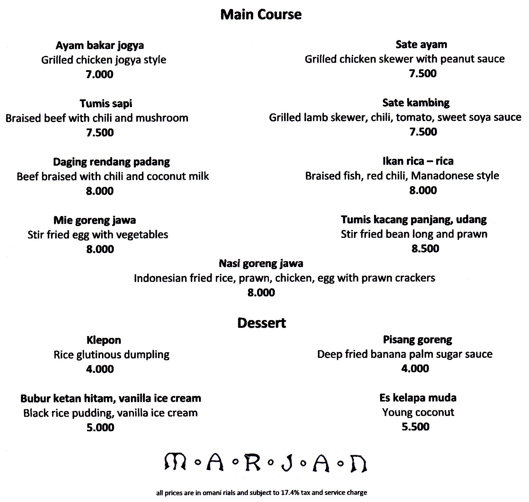 Filipino main course menu list the for List of entree dishes