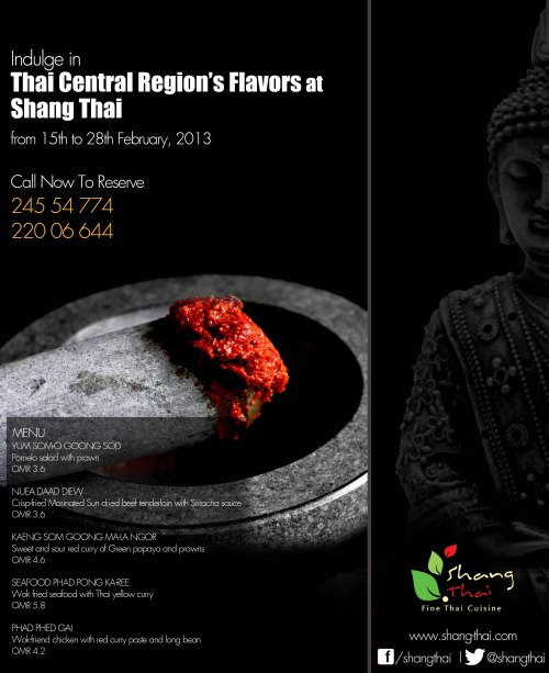 Shang Thai Central Regional Food Art Work Muscat - Eblast, Restaurant & Facebook