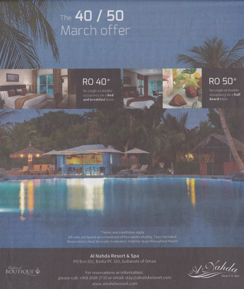 40/50 March Offer