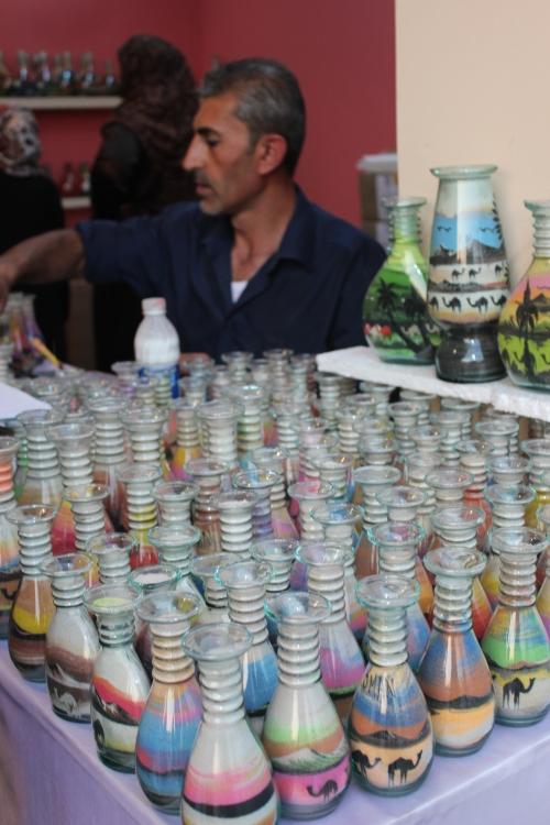 sand art in bottles