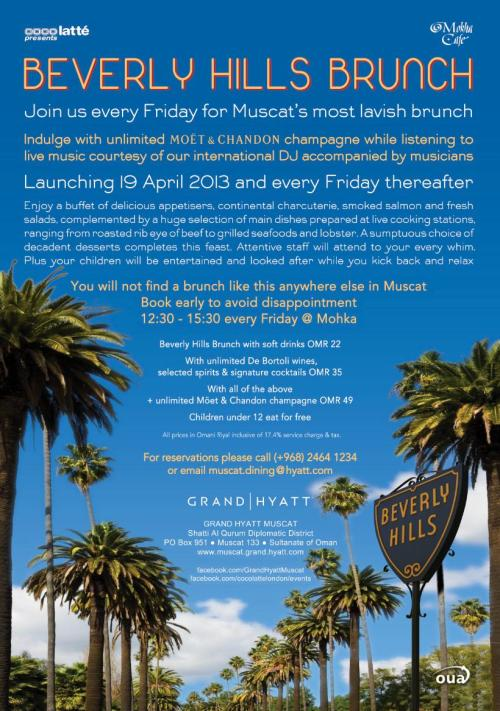 Beverly Hills Friday Brunch flyer