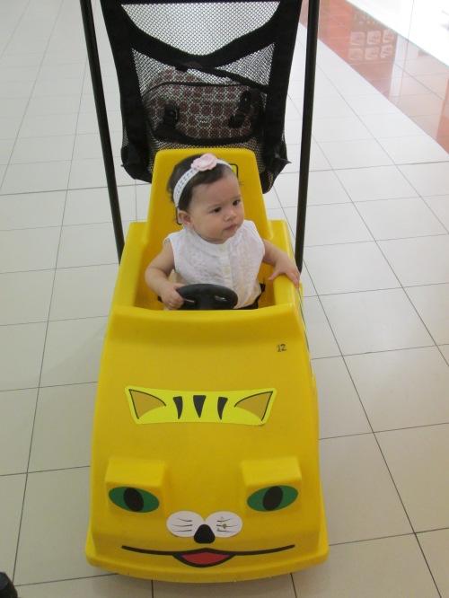 Naomi in her car