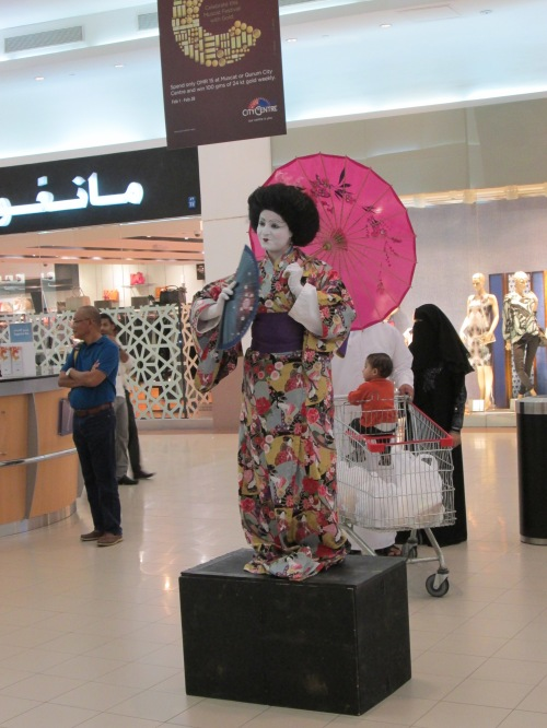 geisha in mall