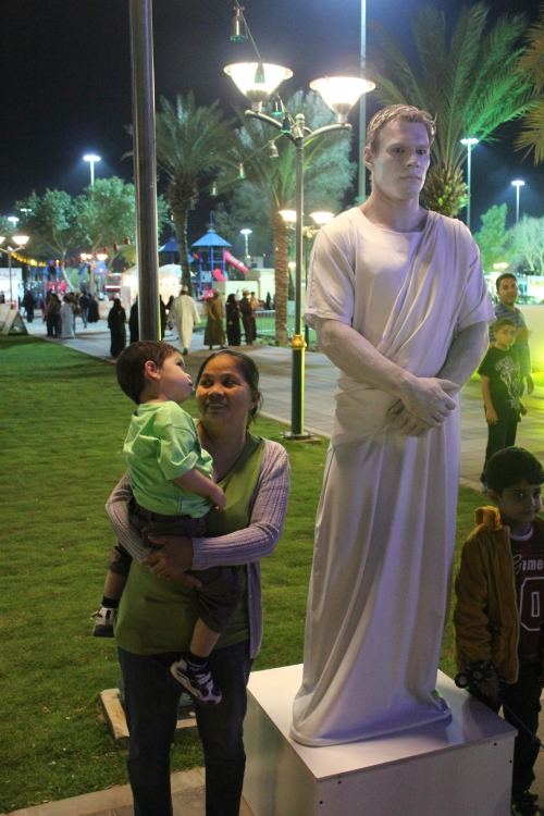 Gershom and statue